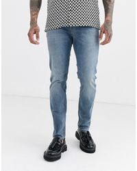 ASOS Skinny Jeans In Mid-wash - Blauw