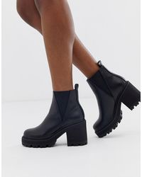 9dc4ecafb4a Chunky Chelsea Boots In Black