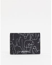 Monki Cia Lady Print Card Holder Case - Black