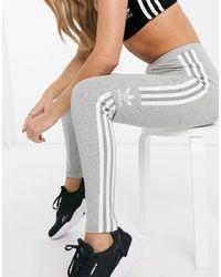 adidas Originals Серые Леггинсы С Логотипом -серый