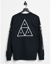 Huf Essentials Triple Triangle T-shirt - Black
