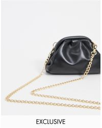 Glamorous Exclusive Mini Pillow Clutch Bag - Black