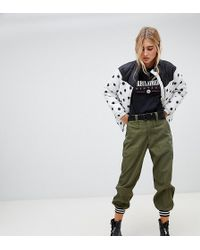 Reclaimed (vintage) Revived Cargo jogger With Tipped Cuff - Green