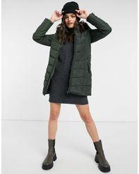 ONLY Newminea - Cappotto verde trapuntato con cappuccio