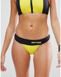 Body Glove High Leg Neoprene Bikini Bottom - Yellow