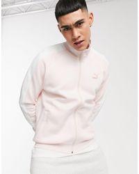PUMA Luxe - Top della tuta sportiva color acqua di rose con logo - Rosa