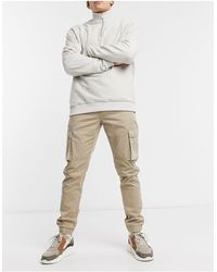 Only & Sons Cuffed Cargo Trousers - Natural