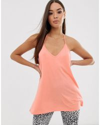 ASOS Cami With Dropped Arm Hole In Orange