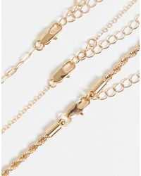Pieces - Золотистое Ожерелье В Несколько Рядов С Подвеской -золотистый - Lyst