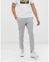 Pantalones cortos cuadros a grises pitillo pitillo nk0wOP