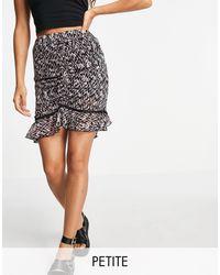 Topshop Unique Aztec Print Flippy Mini Skirt - Multicolour