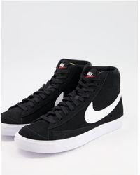 Nike Blazer Mid 77 - Sneakers Van Suède - Zwart