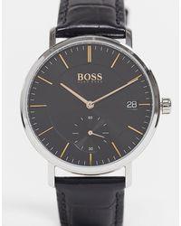 BOSS by Hugo Boss Часы С Черным Кожаным Ремешком Hugo Boss Talent-коричневый Цвет
