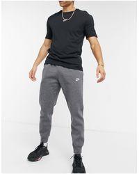 Nike - Темно-серые Джоггеры С Манжетами Club-серый - Lyst