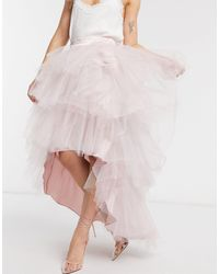 Chi Chi London Tiered Skirt - Pink