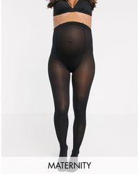 Lindex 40 Denier Recycled Maternity Tights - Black