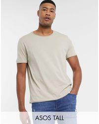 ASOS Tall - T-shirt à encolure dégagée et bords bruts - Humus - Multicolore