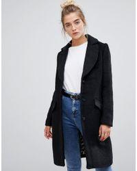 Soaked In Luxury - Wool Overcoat - Lyst