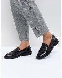 SELECTED Femme Leather Loafer - Black