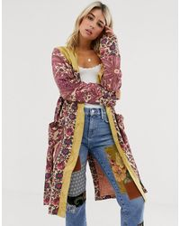 Free People Maggie Floral Print Patchwork Jacket - Multicolour