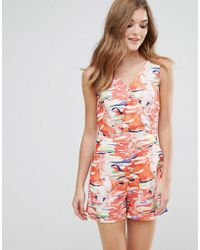 Lavand Printed Tailored Playsuit