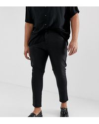 ASOS Plus Super Skinny Coated Leather Look Jeans - Black