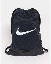 Nike Tas Met Trekkoordsluiting En Swoosh-logo - Zwart
