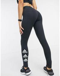 adidas Originals Adidas Training - Leggings avec logo sur le côté - Noir