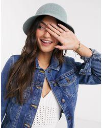 ASOS Textured Bucket Hat - Blue