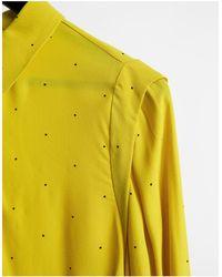 Y.A.S Лаймовая Рубашка В Горошек С Отделкой На Плечах И Присборенными Манжетами (от Комплекта) -многоцветный - Желтый