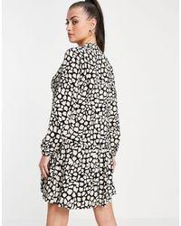 Whistles Черное Платье-трапеция Со Сплошным Жирафовым Узором -черный Цвет