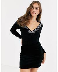 ASOS Diamante Embellished Body - Black