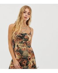 ebonie n ivory Cami Dress With Ruched Side - Orange