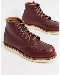 Red Wing Бордовые Ботинки Высотой 6 Дюймов Classic Moc-красный