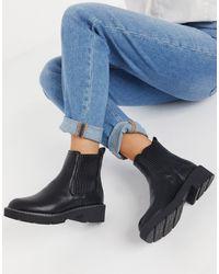 New Look Ботинки-челси На Толстой Ребристой Подошве -черный