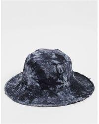 TOPSHOP Tie Dye Denim Bucket Hat - Black