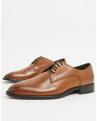 River Island Leather Derby Shoes - Brown