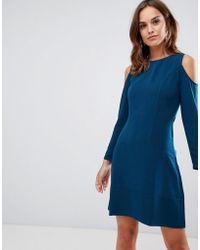 662ed1c984 Closet Closet Cold Shoulder Long Sleeve Dress in Blue - Lyst