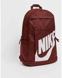 Nike Бордовый Рюкзак Elemental - Красный