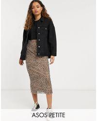 ASOS Asos Design Petite Oversized Denim Jacket - Black