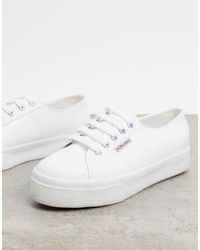 Superga Leather Backless Sneakers in