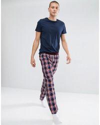 Ben Sherman Gingham Woven Lounge Pant - Blue