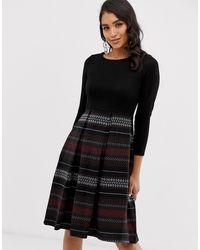 Closet Wardrobe 2 In 1 Skater Dress - Black