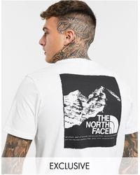 The North Face - Белая Футболка С Графическим Принтом Mountain – Эксклюзивно Для Asos-белый - Lyst