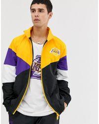 0a30b7fe Nba La Lakers Retro Colour Block Track Jacket In Black