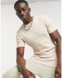 ASOS Camiseta beis ajustada con textura - Multicolor