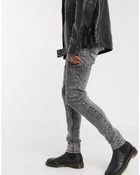 ASOS - Jean skinny taille haute - délavé vintage - Lyst