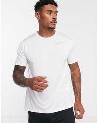 Nike Miler - T-shirt bianca - Bianco