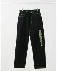 Calvin Klein Черные Мешковатые Расклешенные Джинсы С Логотипом Сбоку Est 1978-черный