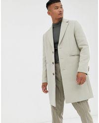 ASOS – Mantel aus Wollgemisch - Weiß